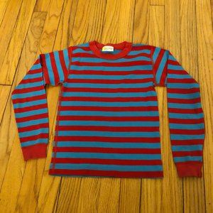Hanna Andersson Blue Red Striped Long Sleeve Shirt
